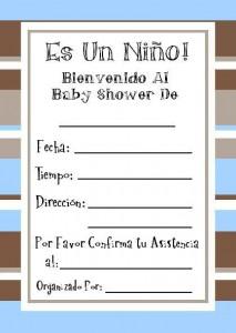 Invitaciones de Baby Shower para imprimir gratis