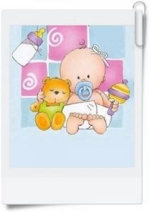 Tarjetas de bebés para imprimir