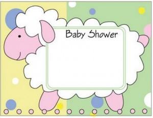 Tarjetas de baby shower para imprimir