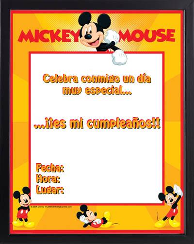 Invitaciones Gratis Para Imprimir De Mickey Mouse
