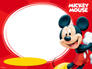 Tarjetas e invitaciones de Mickey Mouse