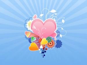Tarjetas de amor para imprimir con corazones