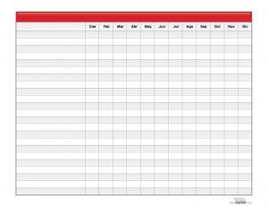 Calendario de Planeación Anual Para Imprimir