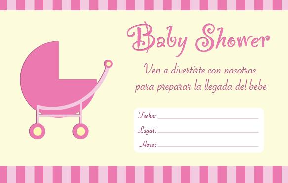Invitación De Baby Shower Para Imprimir