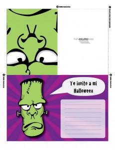 Invitación para imprimir de halloween