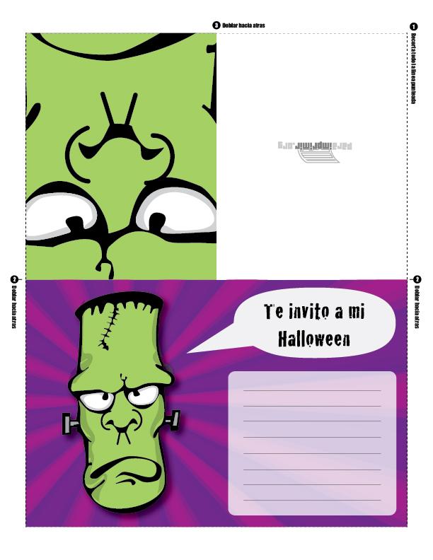 Invitaci  N Para Imprimir De Halloween Para Armar