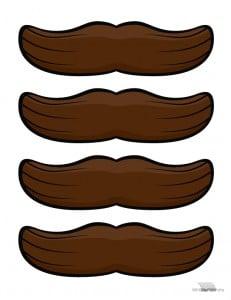 bigote para imprimir