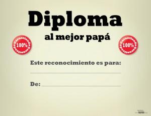 Diploma al mejor Papá para imprimir