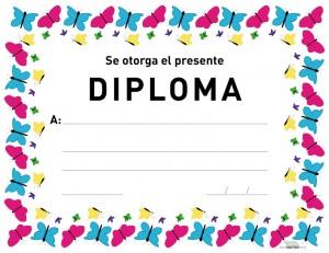 Diploma de mariposas