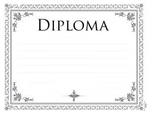 Diploma ocasional para imprimir
