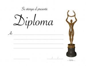 Diploma tipo Oscar para imprimir