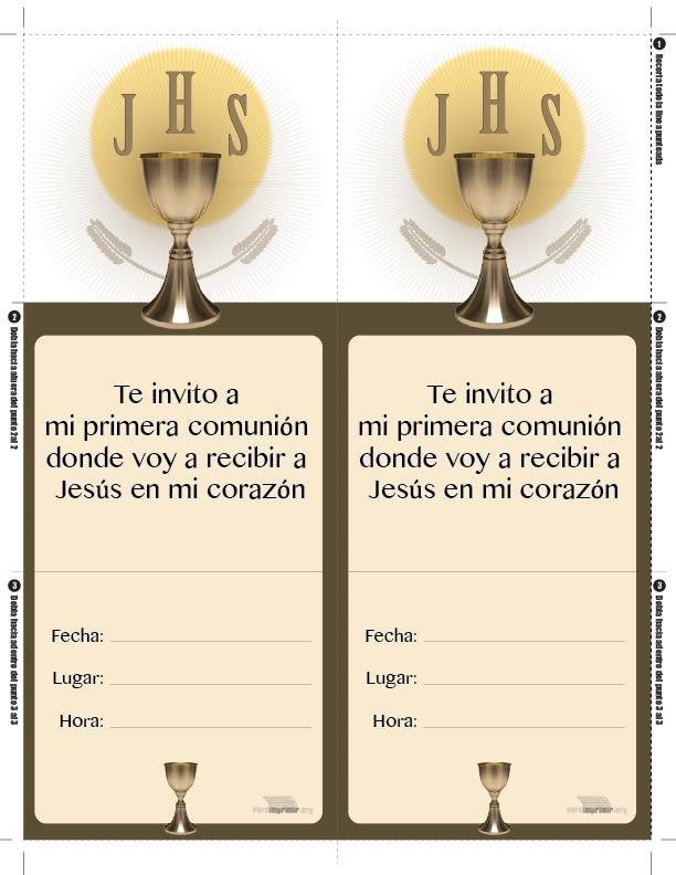 Invitacion De Primera Comunion Para Imprimir