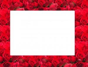 Marco de rosas para imprimir