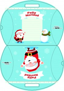 Caja de navidad para imprimir
