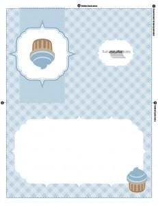 Invitación de pastel o cupcake para cualquier ocasión para imprimir