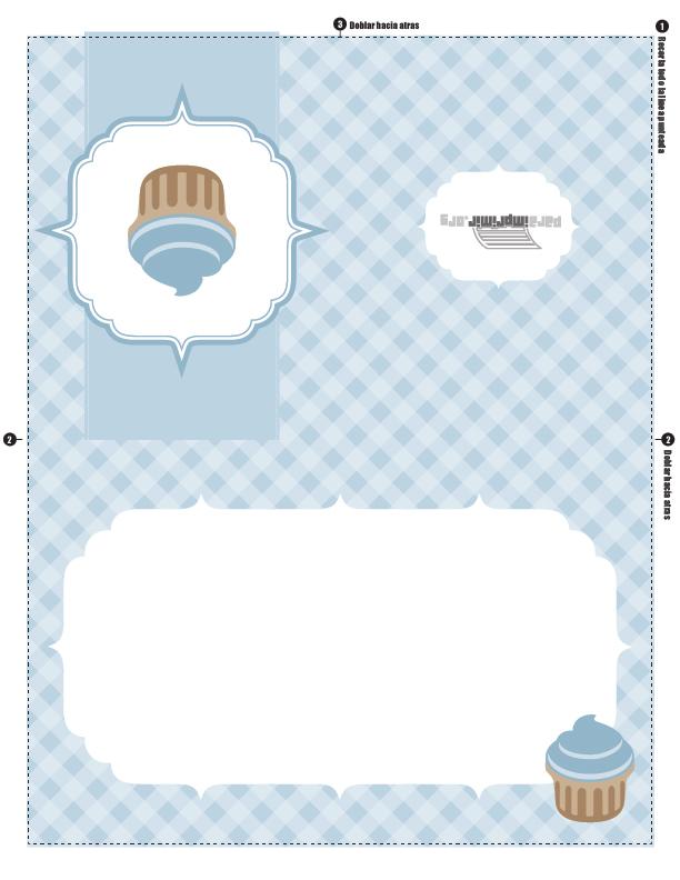 Tarjeta De Pastel O Cupcake Para Cualquier Ocasión Para Imprimir