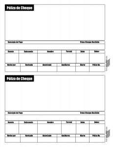 Póliza de Cheques para Imprimir