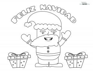 Santa Claus para imprimir y colorear