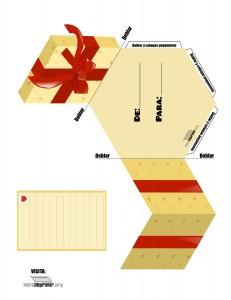 tarjeta en forma de caja para imprimir