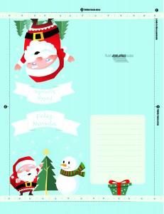 Carta para Santa Claus para imprimir