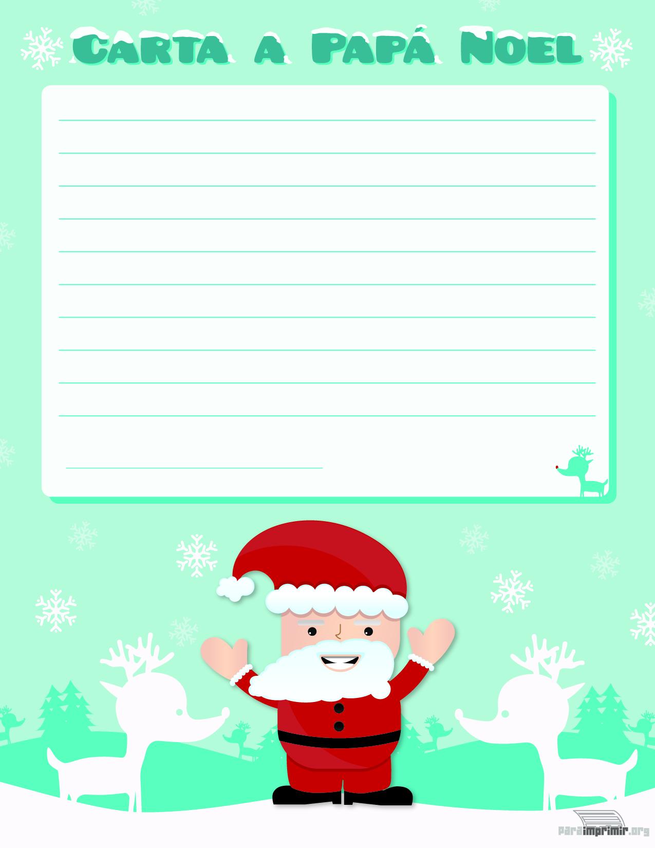 Carta De Papa Noel Para Imprimir Tarjetas Para Imprimir - Papa-noel-para-imprimir