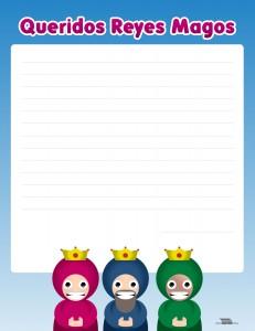 Carta para los Reyes Magos para imprimir
