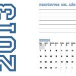 Calendario enero 2013 para imprimir