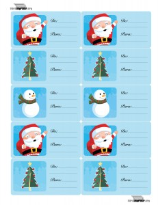 Etiquetas para navidad