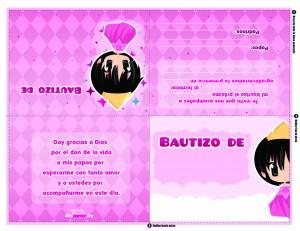 Invitación de Bautizo de princesa para imprimir