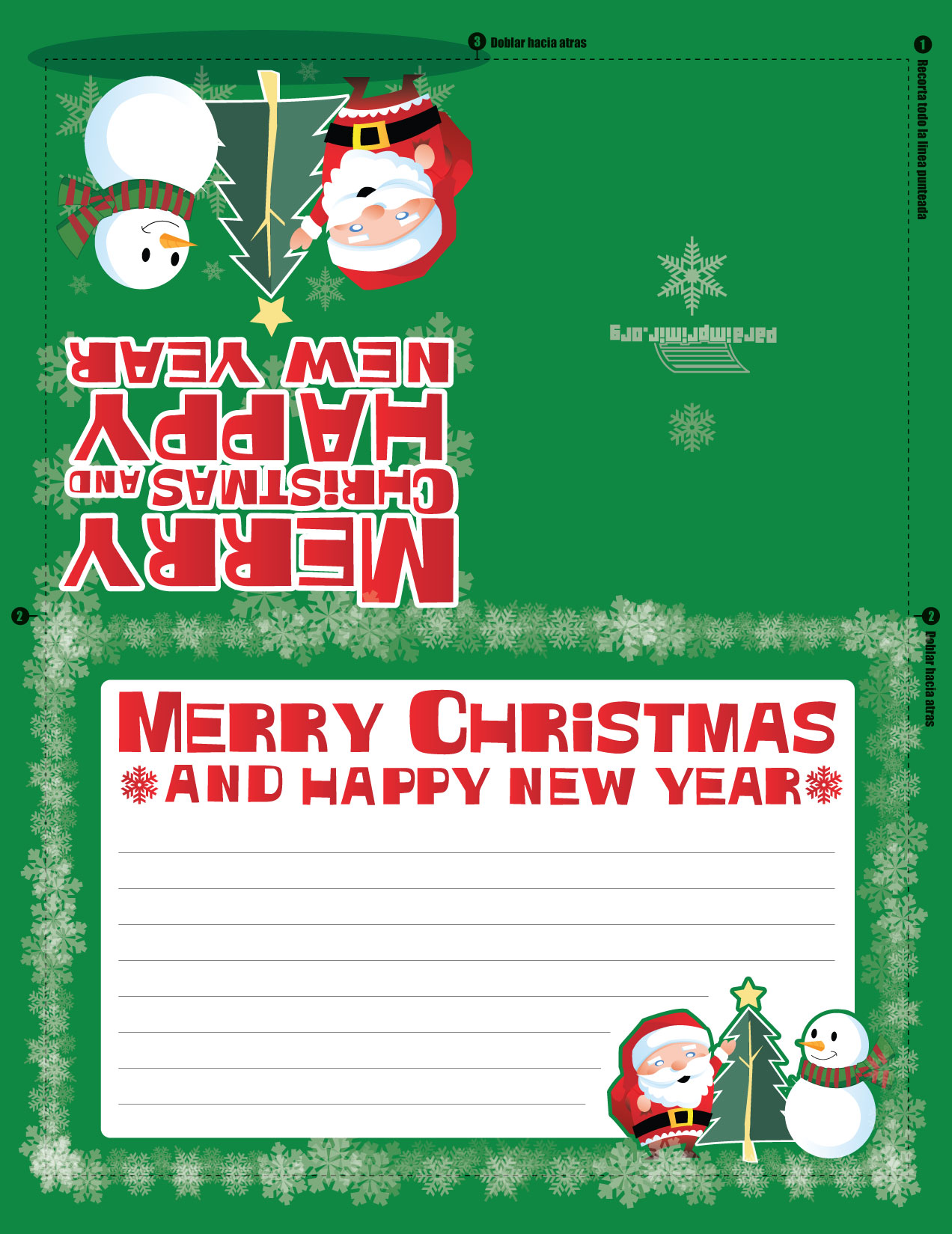 Felicitaciones De Navidad Para Escribir E Imprimir Navidad Mágica 2019