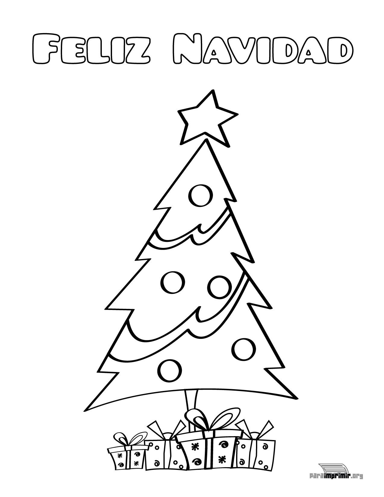 árbol De Navidad Para Colorear Y Para Imprimir