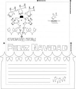 Tarjeta de navidad para colorear y para imprimir