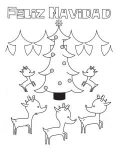 Tarjeta de navidad para colorear y para imprimir portada