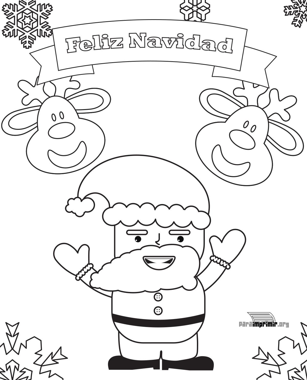 Tarjeta de navidad para imprimir y colorear - Dibujos tarjetas navidenas ...