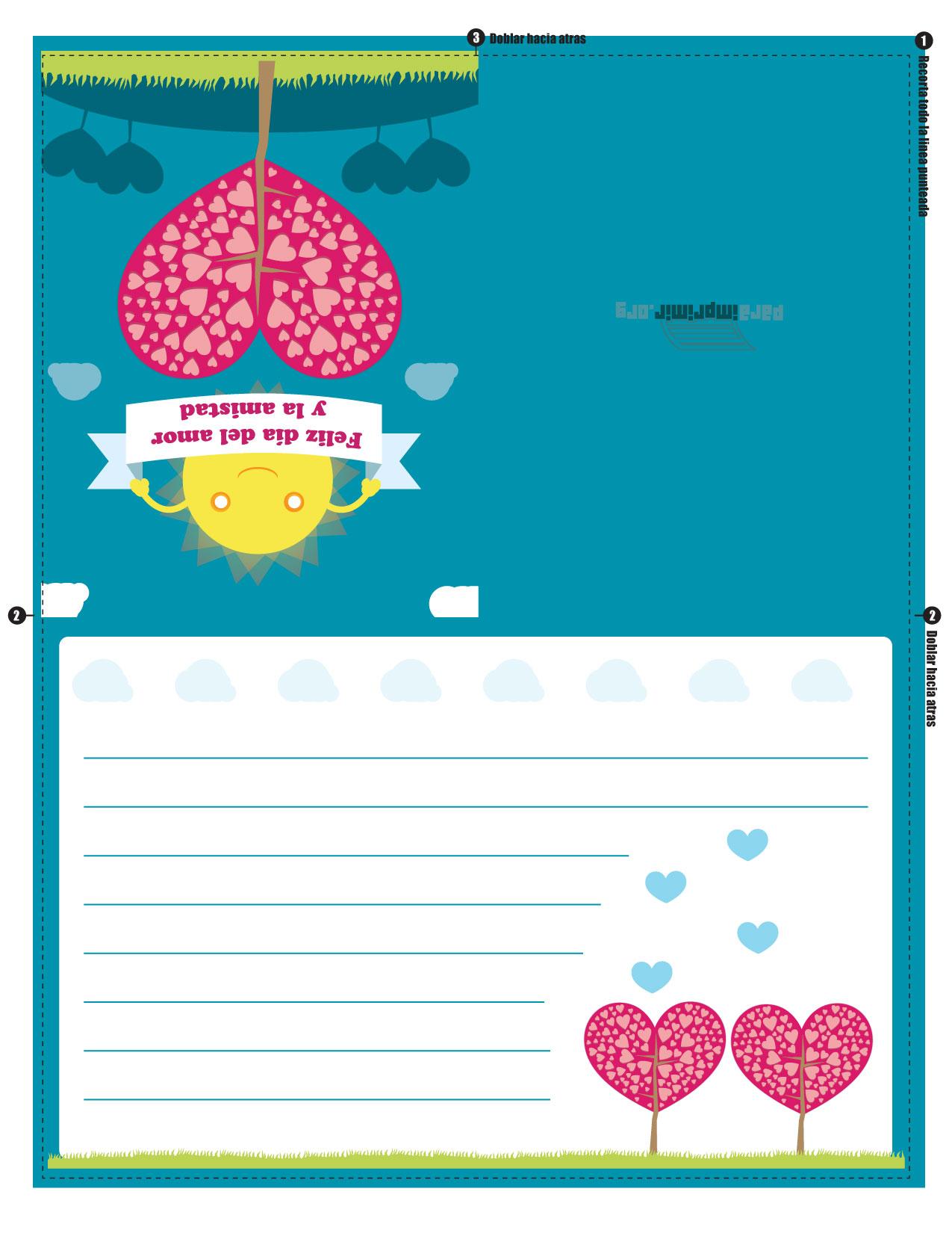 Tarjeta Para Imprimir De Amor Y Amistad