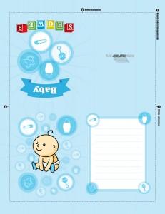 Tarjeta para imprimir de baby shower