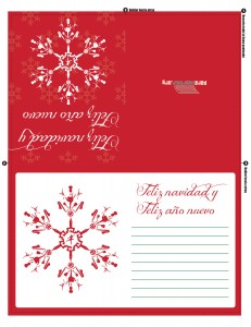 Tarjeta para imprimir de navidad y de año nuevo