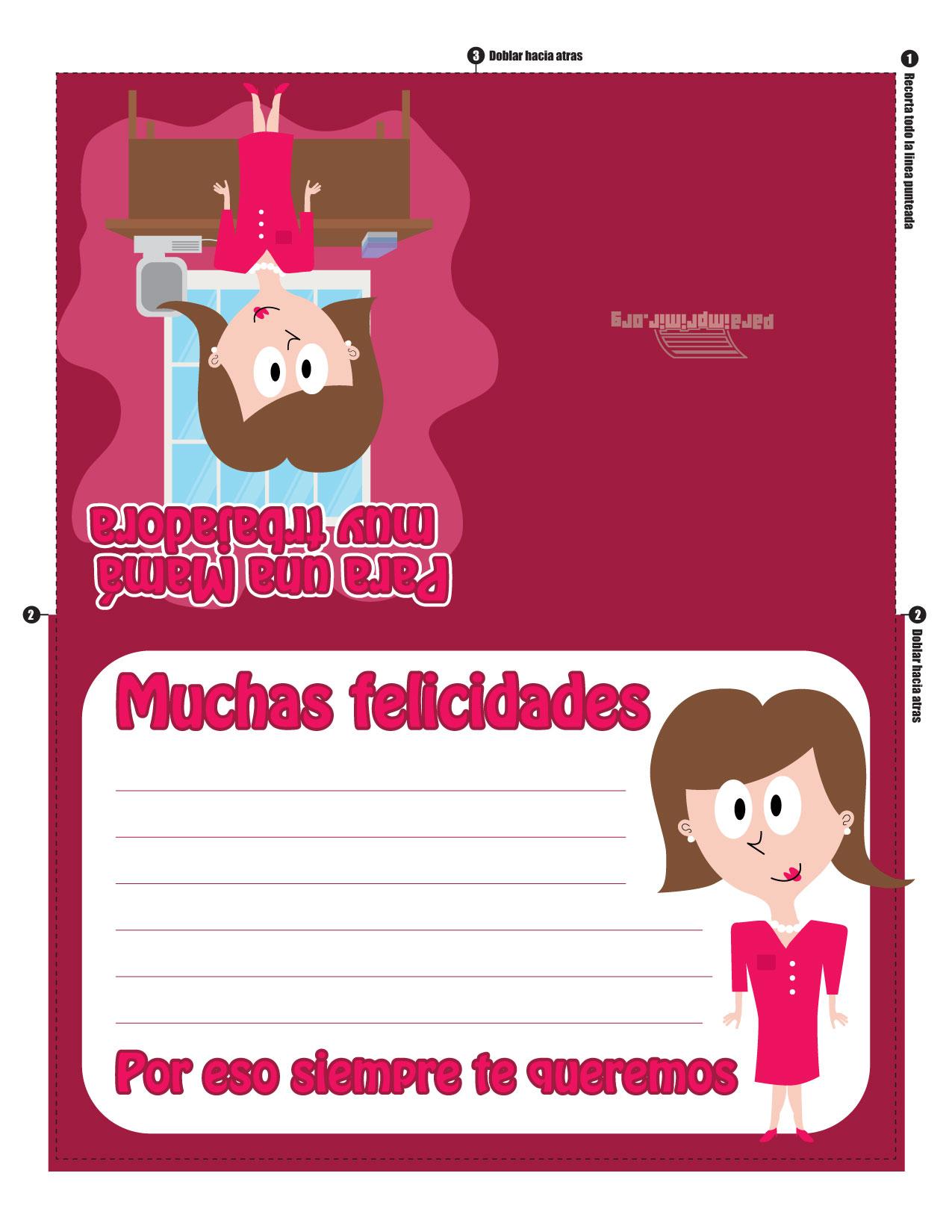 Tarjeta Para Imprimir Del Día De La Madre