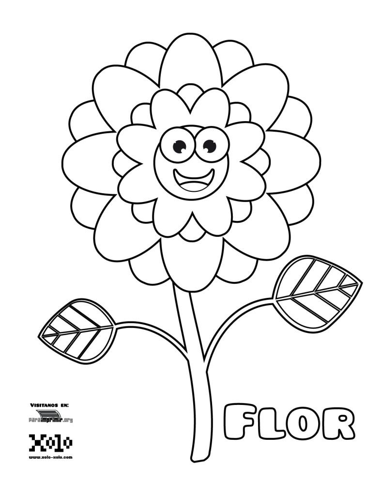 Flor para colorear y para imprimir en PDF 2021