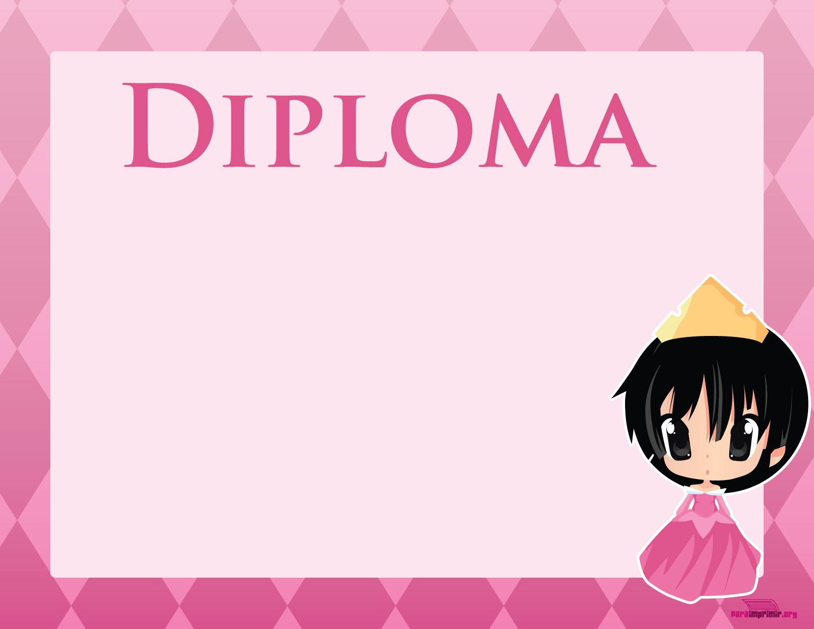 Diploma de princesa para imprimir
