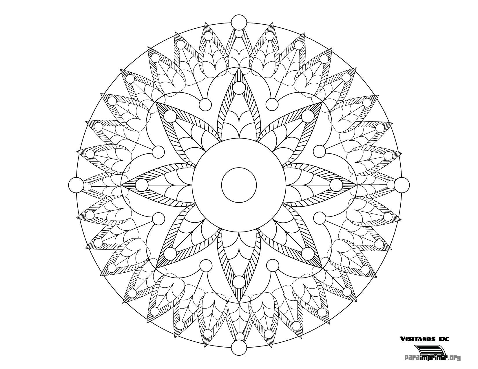Mandala Para Colorear Y Para Imprimir