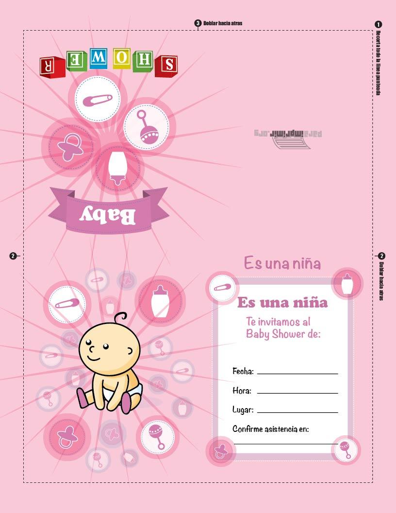 Tarjeta De Nina Para Baby Shower Para Imprimir