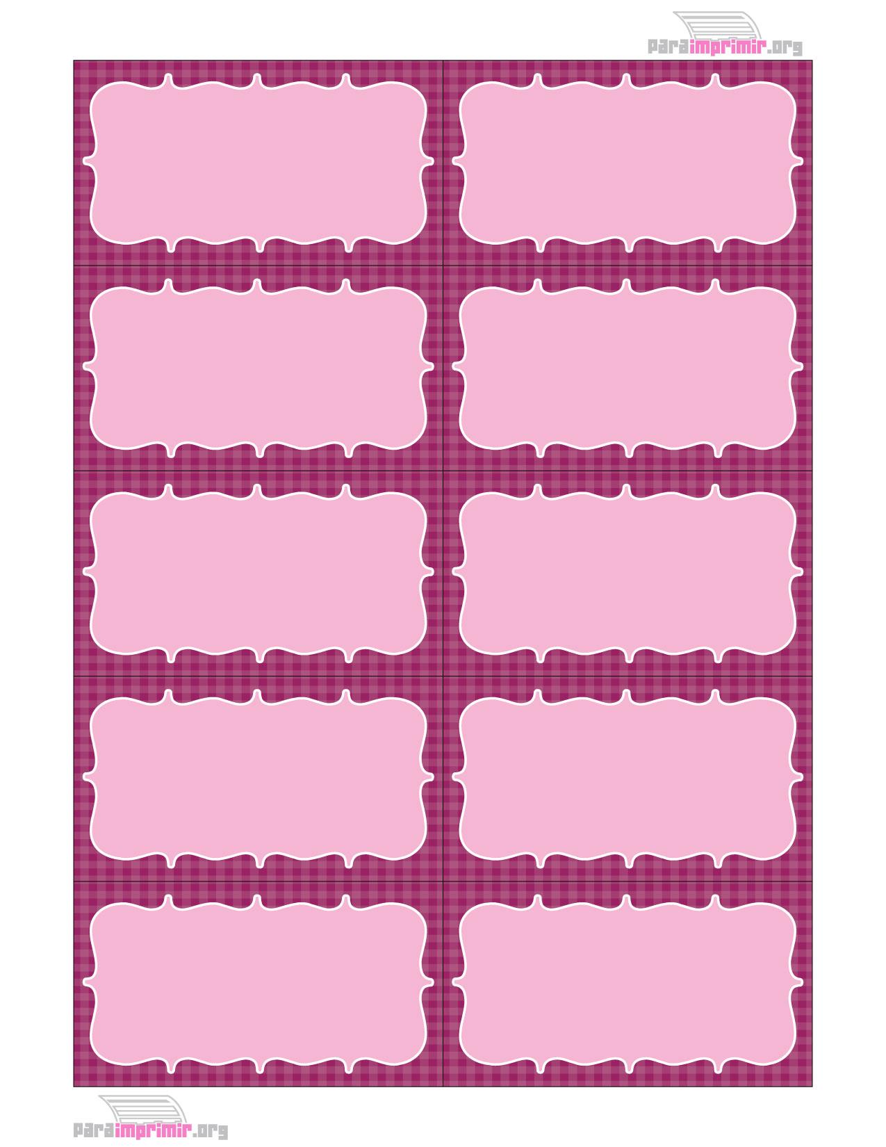 Tarjetas de presentación de colores rosas para imprimir