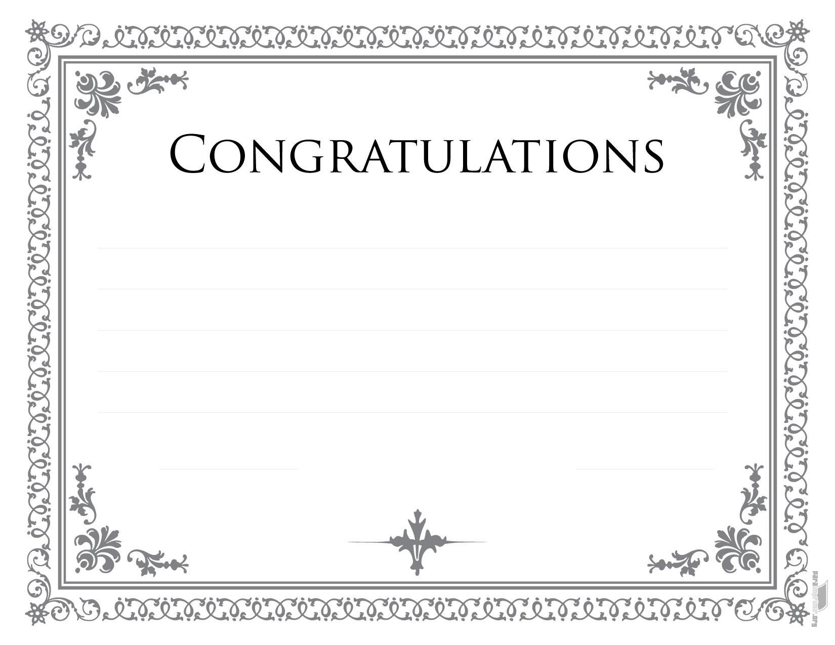 Diploma de congratulations para imprimir