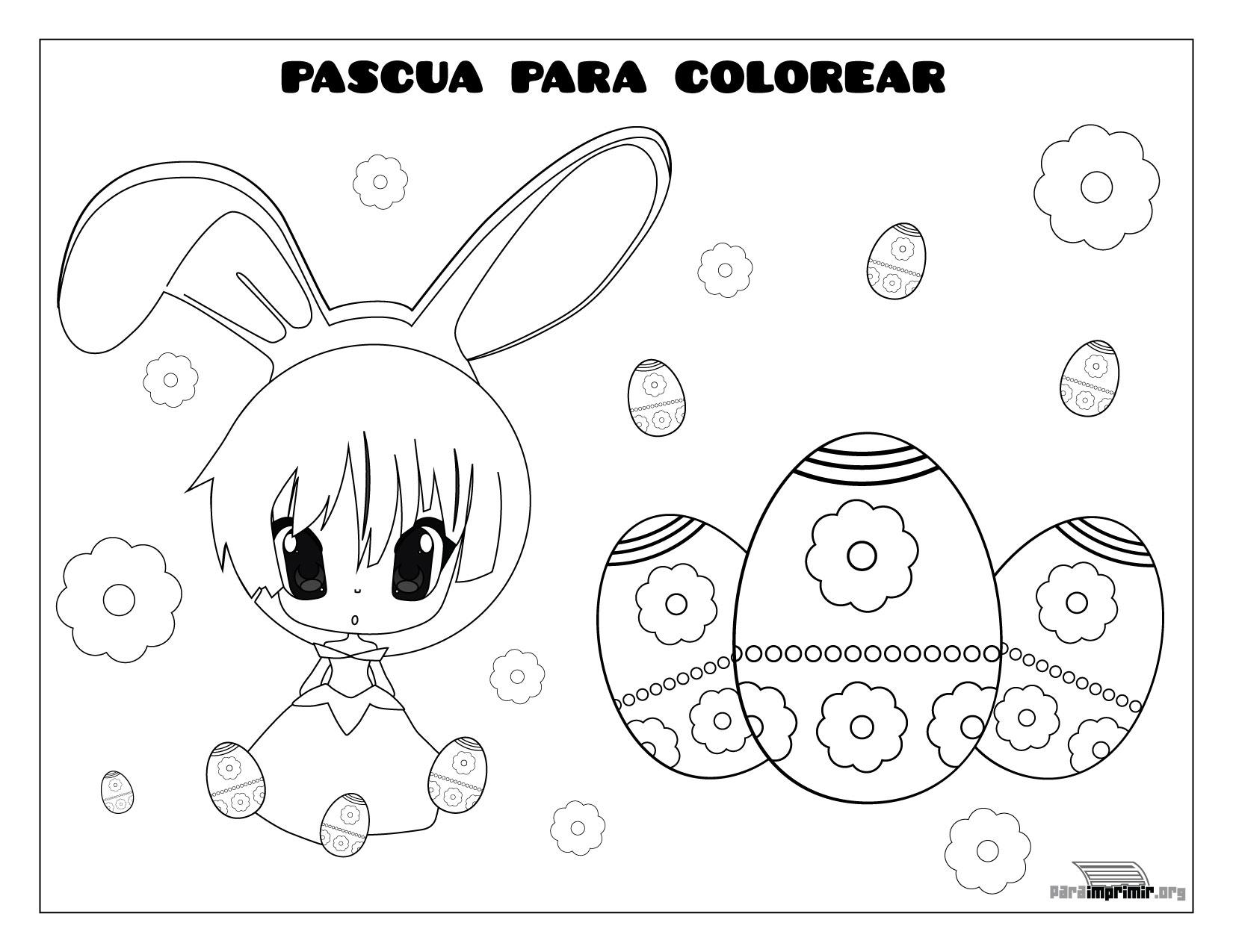 Imagen De Pascua Para Colorear E Imprimir