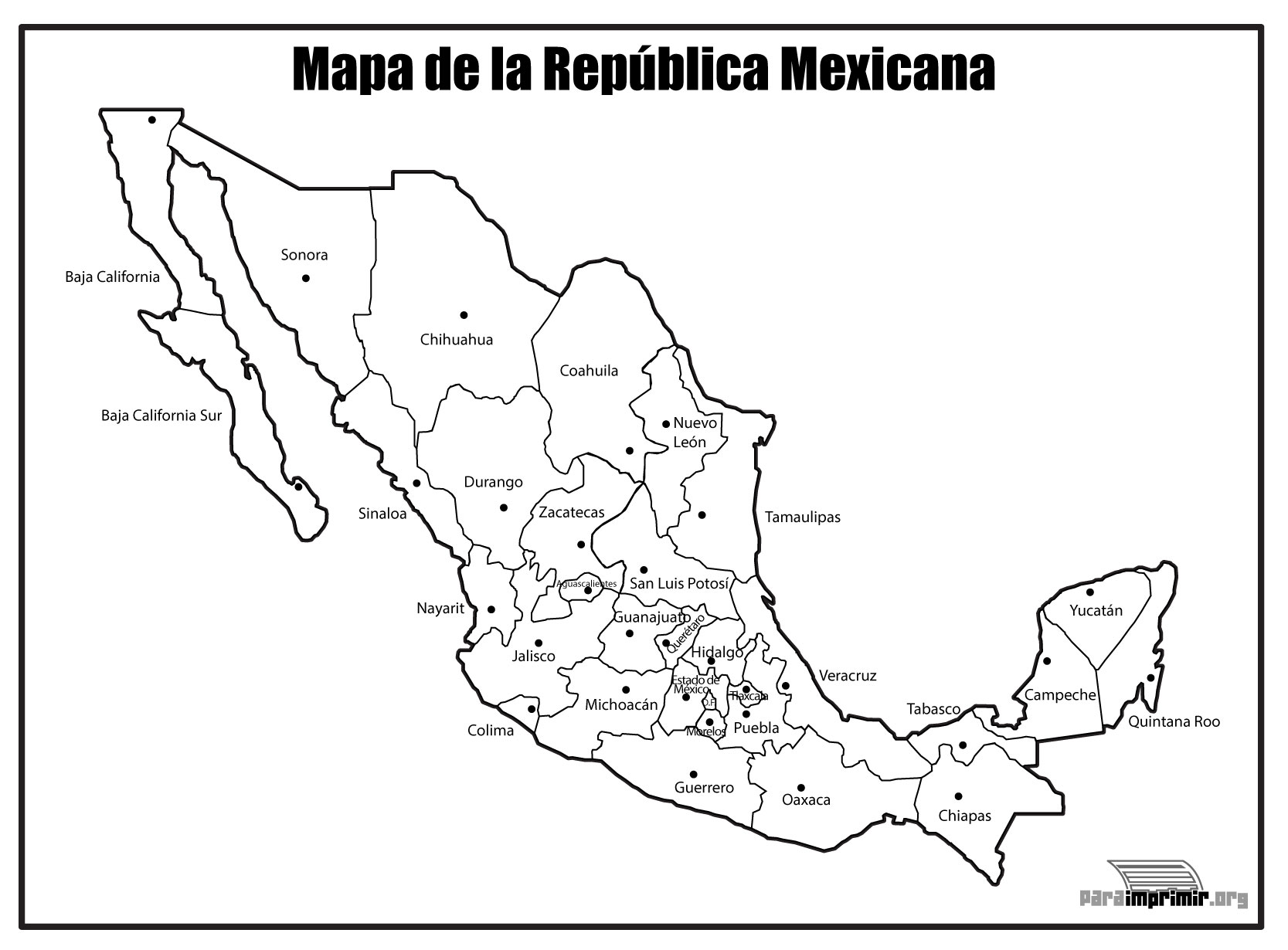 Maps of Mexico - Big Mexico Map