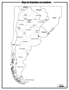Mapa de argentina con nombres para imprimir