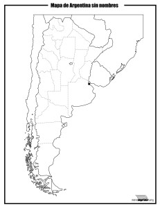 Mapa de argentina sin nombres para imprimir