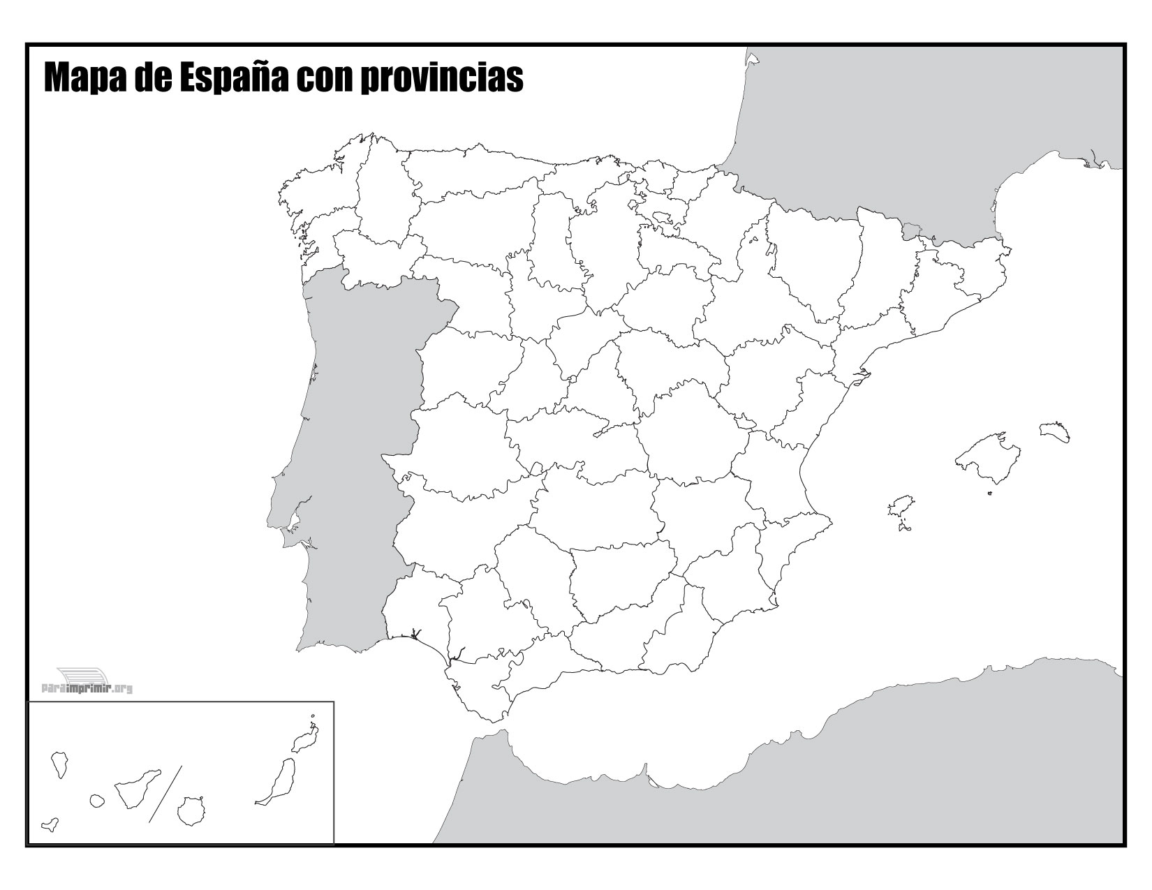 Mapa Mudo Comunidades Autonomas España Para Imprimir.Mapa De Espana Con Provincias Sin Nombres Para Imprimir
