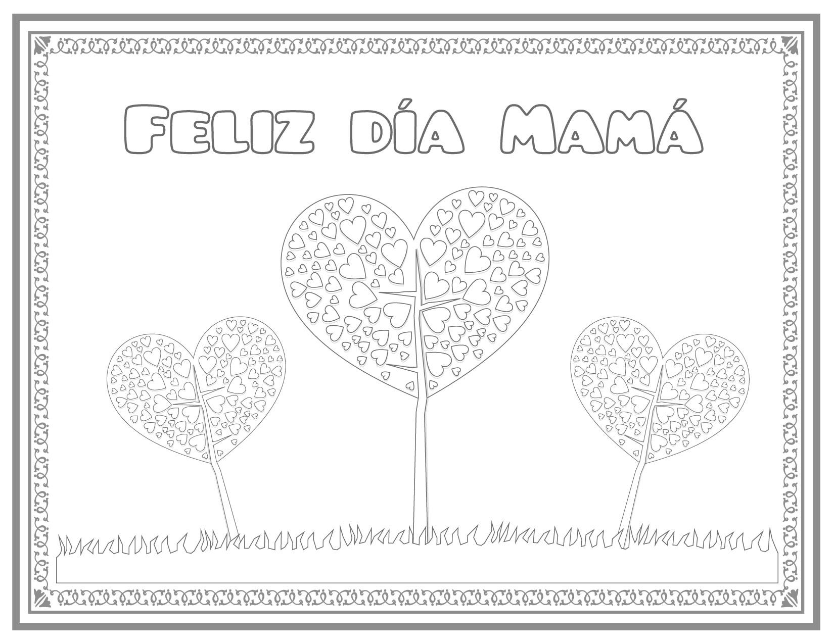 Fantástico Páginas Para Colorear Para El Cumpleaños De Las Mamás ...